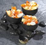 Duo d'ananas et carottes au surimi