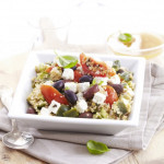 Salade Grecque ( Concombre, tomate, feta, boulgour )